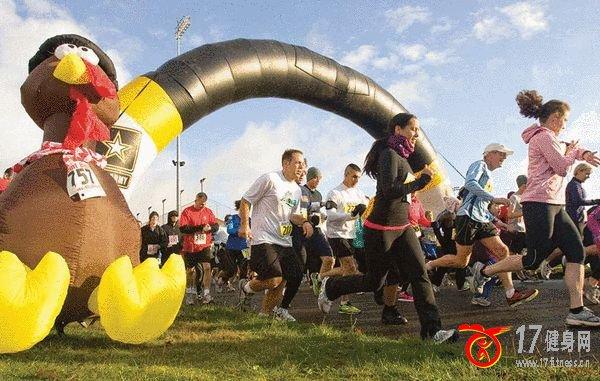 感恩节后来个跑步星期五 健身远比购物健康得多